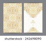 vintage ornate cards in eastern ...   Shutterstock .eps vector #242698090