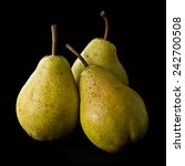 3 Yellow Pears Still Life With...