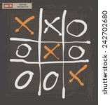 vector drawing of tic tac toe... | Shutterstock .eps vector #242702680
