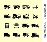 truck pictogram | Shutterstock .eps vector #242703568