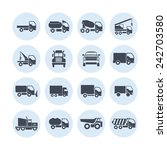 truck icon set | Shutterstock .eps vector #242703580