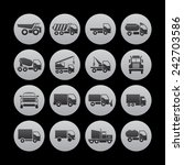trucking icons | Shutterstock .eps vector #242703586