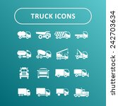 truck icons for site | Shutterstock .eps vector #242703634