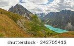 shavla lake  russia  siberia ... | Shutterstock . vector #242705413