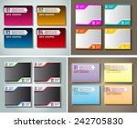 colorful modern text box... | Shutterstock .eps vector #242705830