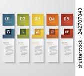 design clean number banners... | Shutterstock .eps vector #242707843