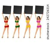 sexy woman in bikini making an... | Shutterstock .eps vector #242726314