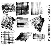 vector brush strokes collection | Shutterstock .eps vector #242726578