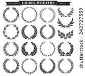 set of laurel wreaths vector | Shutterstock .eps vector #242727559