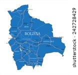 bolivia map | Shutterstock .eps vector #242728429