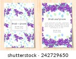 wedding invitation cards with... | Shutterstock .eps vector #242729650