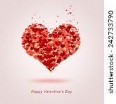 red fiery heart of hearts | Shutterstock . vector #242733790