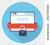 vector internet security icon | Shutterstock .eps vector #242734360