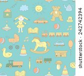 colorful seamless pattern ... | Shutterstock .eps vector #242742394