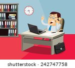 cartoon businessman on the...   Shutterstock .eps vector #242747758