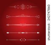set calligraphic valentine's...   Shutterstock .eps vector #242747860