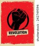 revolution fist creative poster ... | Shutterstock .eps vector #242749594