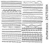 hand drawn vector line border... | Shutterstock .eps vector #242751004
