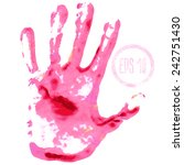 handprint in paint colors... | Shutterstock .eps vector #242751430