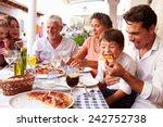 multi generation family eating...   Shutterstock . vector #242752738