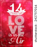 happy valentines day card.... | Shutterstock .eps vector #242757016