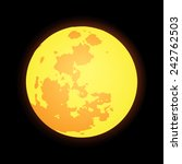 vector flat design yellow full... | Shutterstock .eps vector #242762503