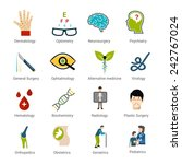 medical specialties icons set... | Shutterstock .eps vector #242767024