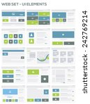 web site ui design elements...