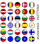 flags of european countries in... | Shutterstock .eps vector #242773564