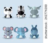 Set Of Animal Vectors   Blue...