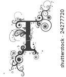 vines font   vector   Shutterstock .eps vector #24277720