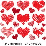 Red Drawings Hearts