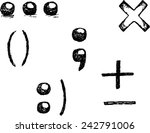 punctuation marks | Shutterstock .eps vector #242791006