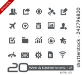 web   mobile icons   2    basics | Shutterstock .eps vector #242796820