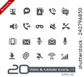 web   mobile icons   1    basics | Shutterstock .eps vector #242796850