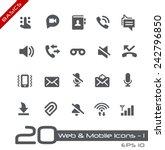web   mobile icons   1    basics | Shutterstock .eps vector #242796850