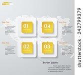 design clean number banners... | Shutterstock .eps vector #242799379