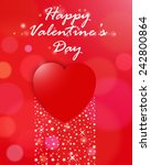 valentines day card with heart... | Shutterstock .eps vector #242800864