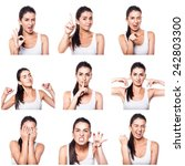 composite of positive emotions... | Shutterstock . vector #242803300