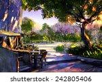 digital painting showing... | Shutterstock . vector #242805406