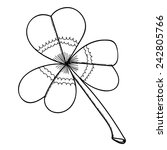 sketch three sheeted clover for ... | Shutterstock .eps vector #242805766