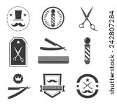 barber shop logo  labels ... | Shutterstock .eps vector #242807284