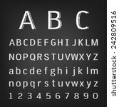 hand drawing chalk alphabet | Shutterstock .eps vector #242809516