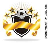 football   soccer ball banner... | Shutterstock .eps vector #242809588