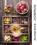 Herbal Tea And Dried Herbs In ...