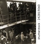 Small photo of THE STEERAGE, 1907, immigrants on steerage deck of ship arriving in New York, 1907. Photogravure by Alfred Stieglitz (1864-1946), published in CAMERA WORK, 1911.