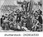 Emigrants On Open Deck Of...