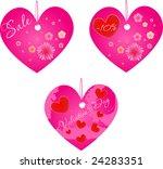 set of three valentine's day... | Shutterstock . vector #24283351