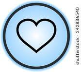 heart sign icon  vector... | Shutterstock .eps vector #242836540