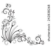 Decorative Floral Element With...
